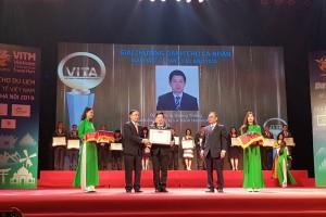 Hanoitourist nhận giải thưởng tại Lễ vinh danh các cá nhân và doanh nghiệp du lịch Việt Nam tiêu biểu năm 2018