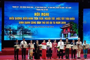 Hà Nội tổ chức Hội nghị biểu dương điển hình tiên tiến, người tốt, việc tốt tiêu biểu 2019