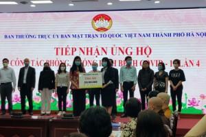 Tổng công ty Du lịch Hà Nội ủng hộ quỹ phòng, chống dịch bệnh Covid-19