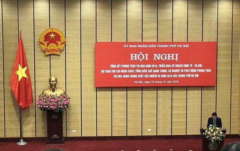 Hội nghị tổng kết phong trào thi đua năm 2018 và triển khai nhiệm vụ công tác năm 2019 của thành phố Hà Nội